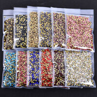 10Gross 1440pcs Top Quality Pointed Back Glass Crystal Rhinestone Round Chatons