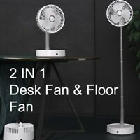 Portable Telescopic Height/Tilt Adjustable Foldable Rechargeable Cordless Fan OZ