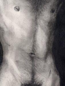 Drawing Bunkmate 1/19/50 Realism Esteban Pencil,  FREE SHIP nude male