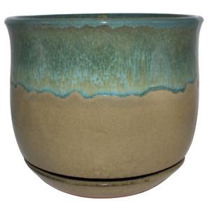 12 in. Dia Multi-Color Bella Ceramic Planter Indoor Outdoor Plant flower Pot