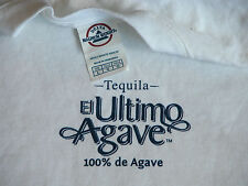 NEW Tequila El Ultimo 100% de Agave Blanco Hecho en Mexico White T Shirt Mens L