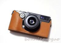 Handmade Genuine Real Leather Bag Case Cover for FUJI FUJIFILM TX1 TX-1 camera