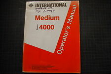 International 4000 Engines Operation Maintenance Manual owner shop 1993 operator