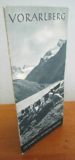 Vintage 1930s VORARLBERG Austria Illustrated Travel Brochure with Map