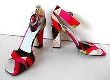 New NWOB Emilio Pucci pink brown sandals heels 37