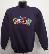 Mickey Mouse Large Crew Neck Sweatshirt Disney Vintage Retro Vtg Donald Goofy P