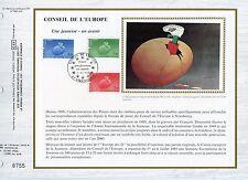 FEUILLET CEF / DOCUMENT PHILATELIQUE / CONSEIL DE L'EUROPE STRASBOURG