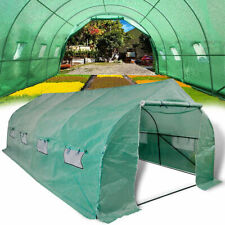 6x3m Walk-in Polytunnel Greenhouse Steel Frame Portable Garden Grow House Tunnel