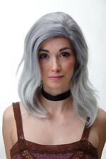 Ladies' Wig Sexy Wild Parted Shoulder Length Wavy Grey Blue SA083