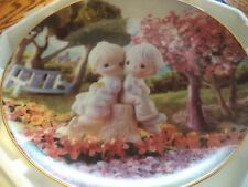 "Precious Moments ""Love One Another"" Hamilton Collectors Plate 1993 0209D"