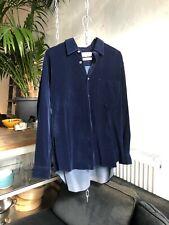 Vintage Comme des Garçons Midnight Blue Velvet Shirt - Designer, French