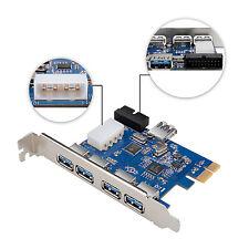 SuperSpeed PCI-E to USB 3.0 4-Port Express Card USB 3.0 Internal Port Win 10 8.1