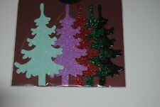 XMAS DIE CUT GLITTER TREE PACK OF 5 #73