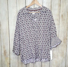 Foxcroft Womens Top Button Up Shaped Fit Wrinkle Free Multi-Color Size 22 W