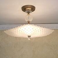 563 Vintage Quality Hobnail Ceiling Light Lamp Fixture Chandelier   1 of 2
