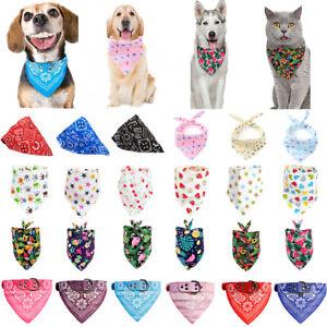 Dog Bandana Collar Adjustable Cat Puppy Kitten Pet Neck Scarf Neckerchief Decor