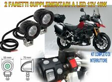 FARETTI KIT FARI SUPPLEMENTARI MOTO LED 12V 10W 6000K PER SUZUKI V-STROM 1000 3L