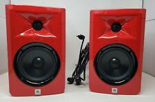 JBL LSR 305 Studio Quality Speakers (RED)