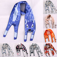 Soft Colorful Animal Silk Scarf Small Plain Neck Headband Neckerchief Bag Design