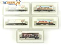 E14F929 Märklin Z 5x Güterwagen Sonderwagen Leichtathletik-WM-93 Alpha Technik