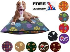 DOG BED REMOVABLE ZIPPED COVER WASHABLE PET BED CUSHION COVER ONLY