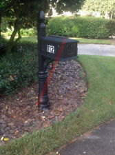 Large Curbside Residential Mailbox Post Mount Black Heavy Duty Rural Mail Box