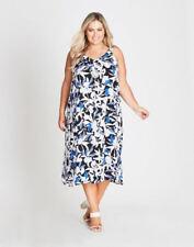 Autograph White Blue Black Floral Sundress Beach Summer Party Dress 18