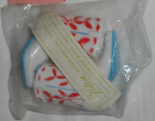 """NEW Vintage  Wilton Cake Topper Cowboy Boots Plastic Blue Red White 2 1/4"""" tall"""