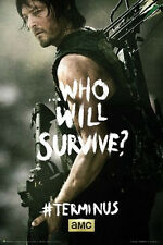 THE WALKING DEAD - DARYL TERMINUS POSTER - 24x36 REEDUS WHO WILL SURVIVE 3196