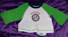 Tee Shirt 24 months Lime Raglan Sleeves T Shirt Athletic All-Star Division B-1-4