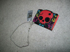 EMILY THE STRANGE Skull Snap Chain Wallet NEW WITH TAGS!
