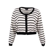 CITY CHIC CARDIGAN SIZE S/16 RRP 79.95 BLACK WHITE ROCK N ROLL