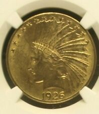 NGC MS63 1926 $10 Indian Head Gold Coin.! Choice BU.!