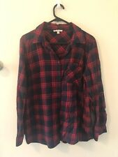 Check Flannel Shirt - Red And Navy Blue - soft flannelette material