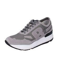 Men's Shoes RUCO LINE 41 Eu Sneakers Grey Suede Fabric BH391-41
