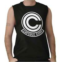 Capsule Vegeta Goku Anime TV Show Nerd Gift Sleeveless T Shirts Tees Tshirts