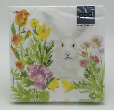 Spring Bunny Easter Lunch or Dinner Napkins PaperProducts Design, 2 packages