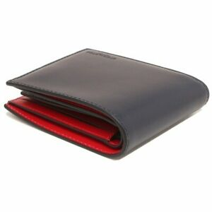 NWT COACH 3-In-1 Wallet Color Billfold Canvas Card Case ID Navy Blue Red C4333