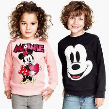 unisexe enfant garçon fille Mickey Minnie pull haut t-shirt pull chemise