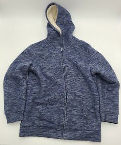 Old Navy Boys Faux Fur Sherpa Lined Hoodie Size XL Blue 14-16