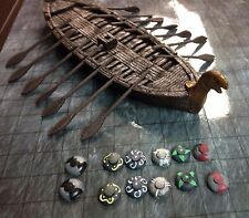 NEW Legendary Realms Miniature Painted Resin Viking Keel Boat D&D Dwarven Forge
