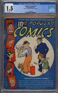 POPULAR COMICS #7 CGC 1.5 VERY RARE GOLDEN AGE DELL
