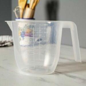 Wham Stackable Clear Plastic Measuring Jug 1L & 2L Capacity