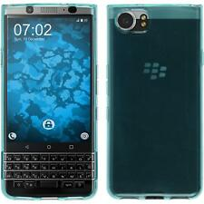 Housse en silicone pour Blackberry keyone (Mercury) Turquoise Transparent Cover