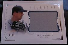 2016 National Treasures Greg Maddux Braves Jersey Relic Card 24/25
