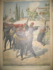 ALBANIE INSURRECTION EXECUTION OFFICIER REBELLE & SON FILS LE PETIT JOURNAL 1910