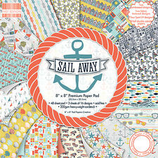 Dovecraft First Edition 8x8 Paper Pad - SAIL AWAY - Scrapbooking Cards