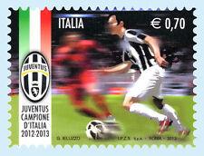 Francobollo  JUVE ITALIA  commemorativo JUVENTUS Campione D'Italia 2012/2013