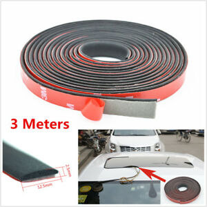 3 Meters Car Auto Front Rear Windshield Sunroof Triangular Window Sealing Strips