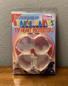 TY Beanie Babies Heart Tag Protectors - Pack Of 10 - NEW